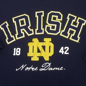 Notre Dame Irish T Shirt XL Navy
